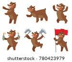vector set of cartoon images of ... | Shutterstock .eps vector #780423979