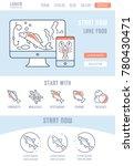 line illustration of laker food....   Shutterstock .eps vector #780430471