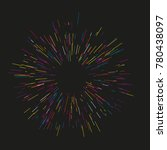 colorful fireworks radiating... | Shutterstock .eps vector #780438097