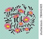thank you followers template of ...   Shutterstock .eps vector #780442405