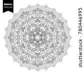 monochrome ethnic mandala... | Shutterstock . vector #780446995