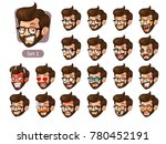 the first set of bearded... | Shutterstock .eps vector #780452191