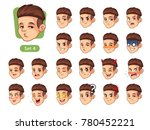 the fourth set of male facial... | Shutterstock .eps vector #780452221