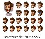 the fourth set of bearded... | Shutterstock .eps vector #780452227