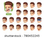 the third set of male facial... | Shutterstock .eps vector #780452245