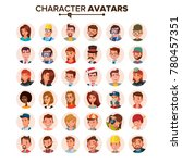 people avatars set vector. face ... | Shutterstock .eps vector #780457351
