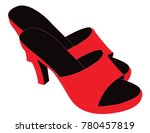 women summer slippers | Shutterstock .eps vector #780457819