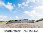 ruin of a german bunker burried ...   Shutterstock . vector #780458161