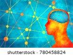 silhouette of a man's head.... | Shutterstock . vector #780458824