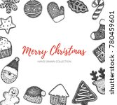 merry christmas illustration....   Shutterstock .eps vector #780459601