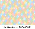 argyle diamond pattern design... | Shutterstock .eps vector #780460891