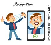 face id  face recognition...   Shutterstock .eps vector #780461254