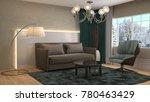 interior living room. 3d...   Shutterstock . vector #780463429