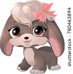 Stock vector happy cartoon puppy 780463894