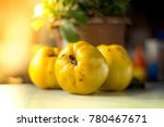 organic ripe yellow quince... | Shutterstock . vector #780467671