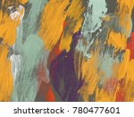 oil painting on canvas handmade.... | Shutterstock . vector #780477601
