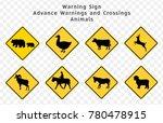 road sign. warning. advance...   Shutterstock .eps vector #780478915