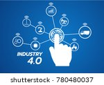 industry 4.0 concept image.... | Shutterstock .eps vector #780480037