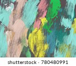 oil painting on canvas handmade.... | Shutterstock . vector #780480991