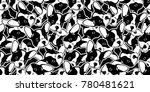 dog head french bulldog vector... | Shutterstock .eps vector #780481621