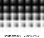 halftone dots. white and black... | Shutterstock .eps vector #780486919