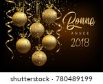 christmas greeting card  design ... | Shutterstock .eps vector #780489199
