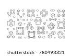 block chain technology... | Shutterstock .eps vector #780493321