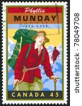 Small photo of CANADA - CIRCA 1998: A stamp printed by Canada, shows Phyllis Munday (1894-1990), mountaineer, community service worker, circa 1998