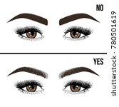 right and wrong eyebrow... | Shutterstock .eps vector #780501619