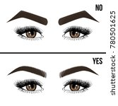 right and wrong eyebrow... | Shutterstock .eps vector #780501625