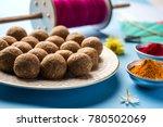 til gul or sweet sesame laddu... | Shutterstock . vector #780502069