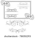 set of various curved elements | Shutterstock . vector #78050293