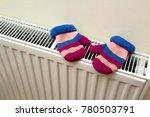 children's warm hand knitted... | Shutterstock . vector #780503791