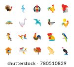 birds icon set | Shutterstock .eps vector #780510829