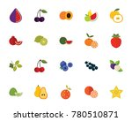 fruits and berries icon set | Shutterstock .eps vector #780510871