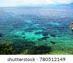 kassiopi blue lagoon beach... | Shutterstock . vector #780512149