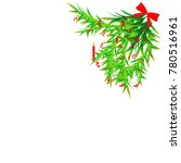 christmas tree decor | Shutterstock .eps vector #780516961