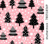 christmas seamless pattern with ... | Shutterstock .eps vector #780518569