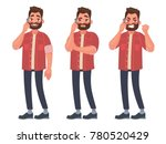 man is talking on the phone... | Shutterstock .eps vector #780520429