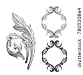 classical baroque vector set of ... | Shutterstock .eps vector #780520864
