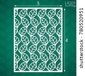 die cut ornamental panel with... | Shutterstock .eps vector #780520951