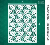 die cut ornamental panel with... | Shutterstock .eps vector #780520981