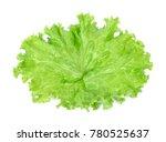 salad leaf. lettuce isolated on ... | Shutterstock . vector #780525637