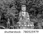 a large buddha statue sits on a ...   Shutterstock . vector #780525979