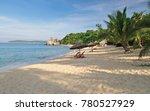 sandy beach on cham island ... | Shutterstock . vector #780527929