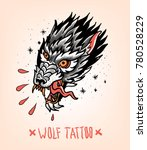 head of tearing wolf in the... | Shutterstock .eps vector #780528229