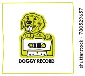 doggy record logo and mascot... | Shutterstock .eps vector #780529657