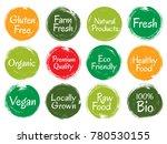 vector organic labels  red... | Shutterstock .eps vector #780530155