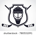 ice hockey theme with shield... | Shutterstock .eps vector #780531091