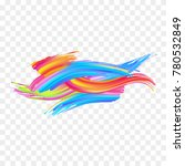abstract colorful strokes | Shutterstock .eps vector #780532849